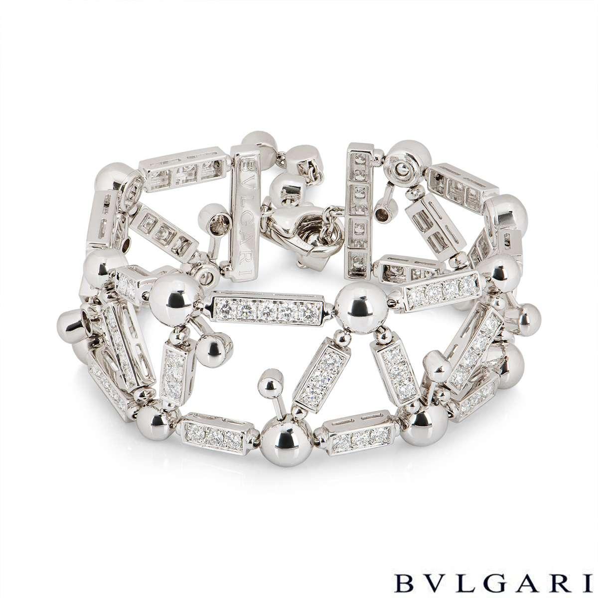 Bvlgari White Gold Fireworks Diamond Bracelet